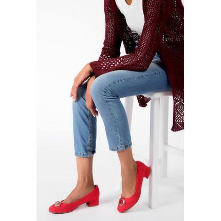 Sapato-Piccadilly-Salto-Baixo-Microfibra-Vermelho