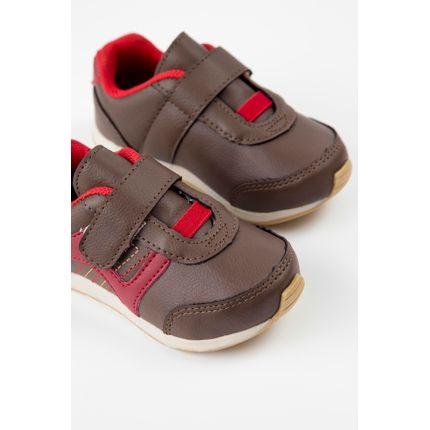 Tenis-Infantil-Menino-Pinokio-Velcro-Marrom