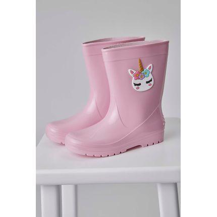 Bota-Galocha-Luaelua-Unicornio-Infantil-Menina-Rosa