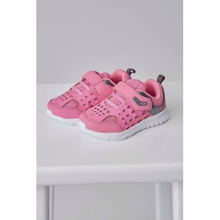 Tenis-Klin-Freedom-Fechamento-Velcro-Perfuros-Infantil-Menina-Pink-