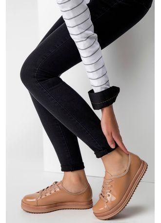 Sapato Oxford Beira Rio Verniz Nude - pittol 522854cdef1