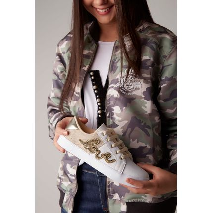 Tenis-Biker-Casual-Strass-Ouro