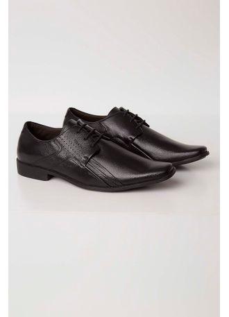 998f63110 Sapato Ferracini Social Couro Masculino Preto - pittol