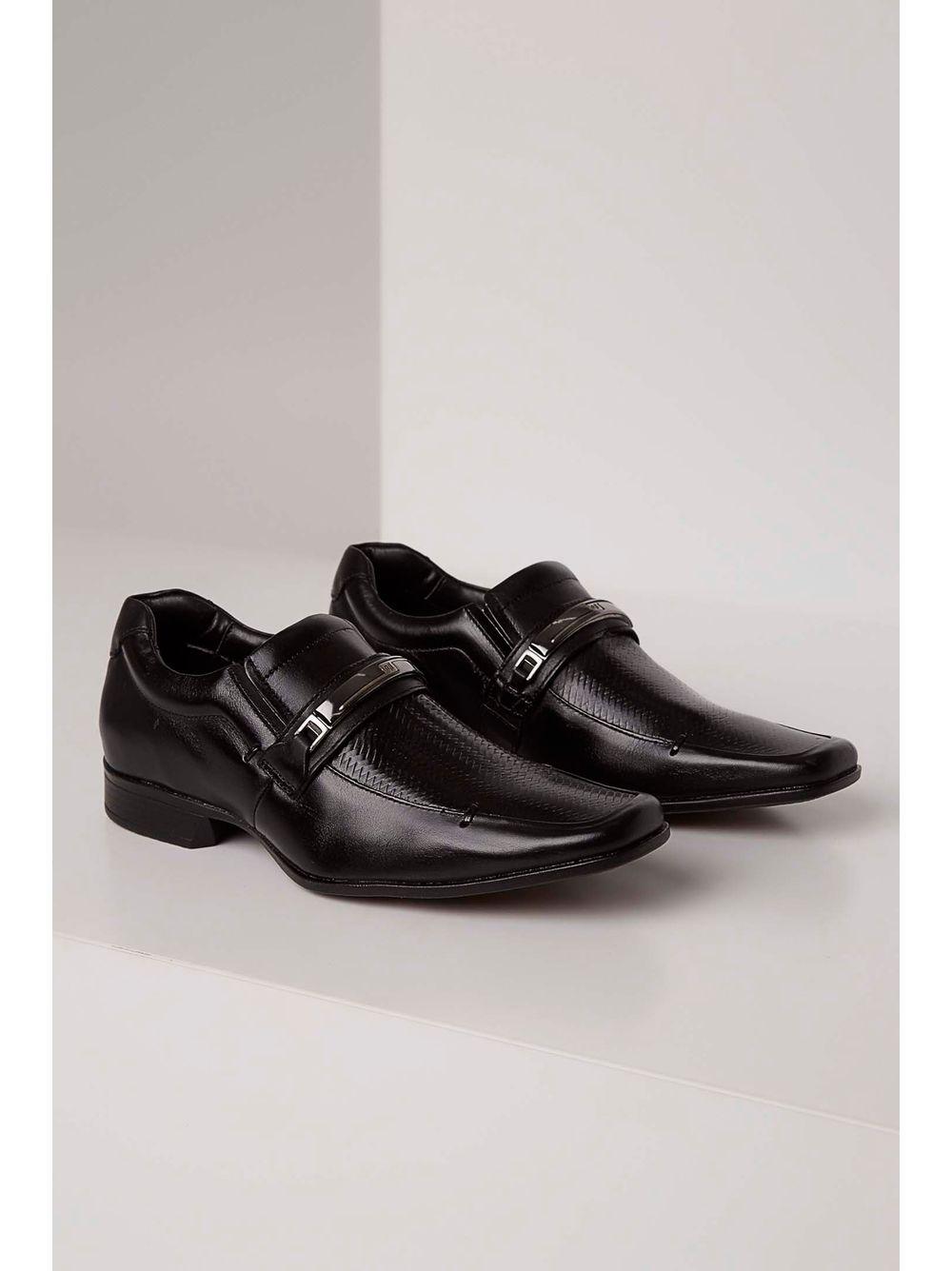 81e0cd4148 Sapato Social Rafarillo Couro Texturizado Preto - pittol