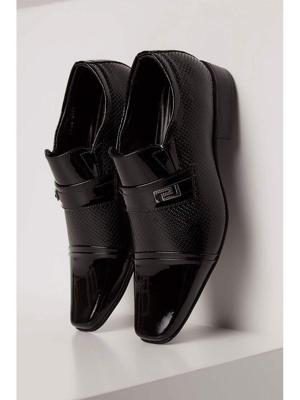 8fe2a20d2 Sapato Jota Pe Social Couro Bico Quadrado Preto - pittol