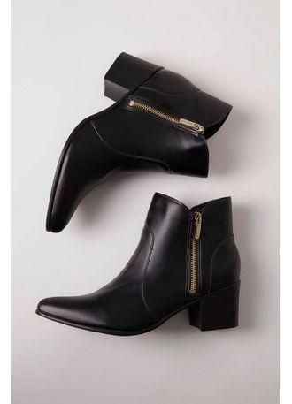 Bota Via Uno Ankle Boot Preto - pittol d49fe2aaba2