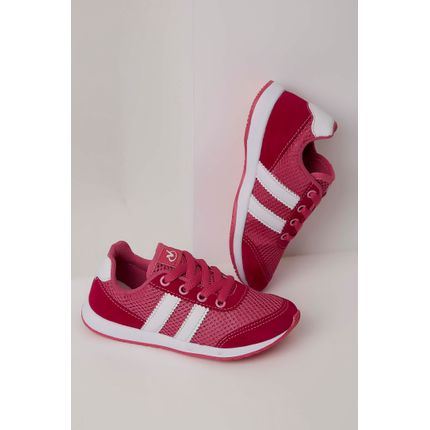 be86b889e Tenis-Via-Vip-Casual-Infantil-Menina-Pink