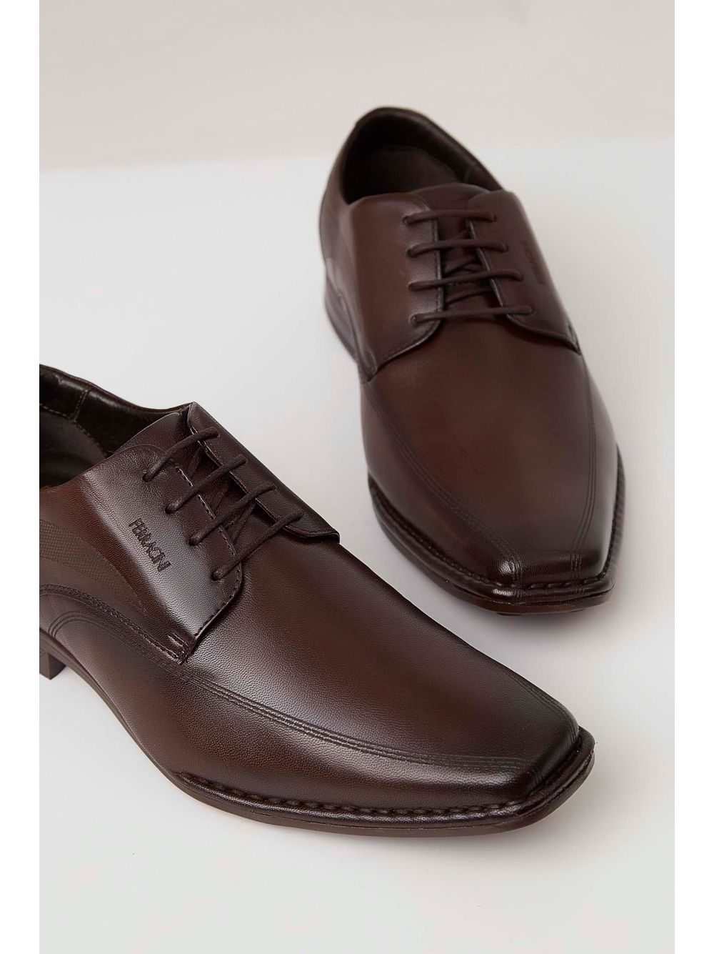 cf997d9329 Sapato Ferracini Casual Couro Masculino Marrom - pittol