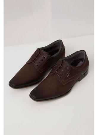 46f1ba06f88 Sapato Social Pegada Cadarço Marrom - pittol