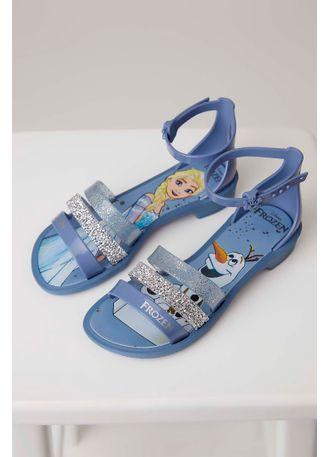 7b01369a0d Sandália Grendene Frozen Infantil Menina Azul - pittol