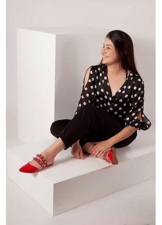 Sapato-Mule-Cha-De-Mel-Pedrarias-Vermelho