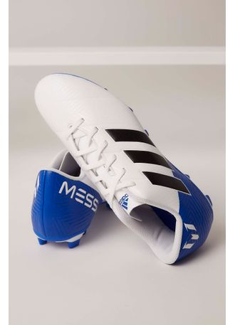 Chuteira Campo Adidas Nemeziz Messi 18.4 Branco - pittol ef62b127b402f