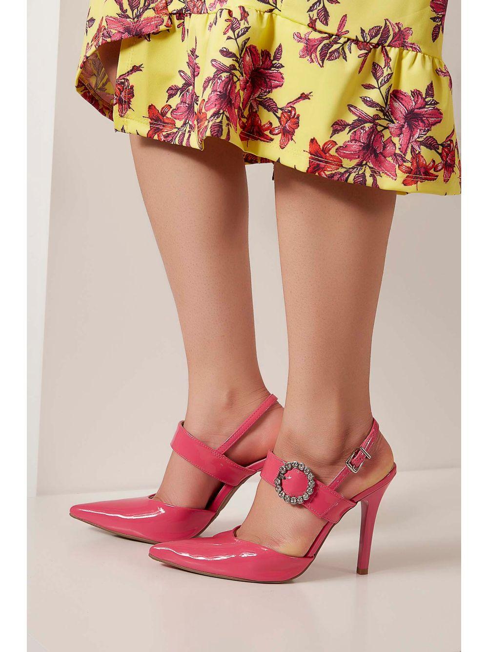 c48b9df653 Sapato Scarpin Via Marte Fivela Pink - pittol