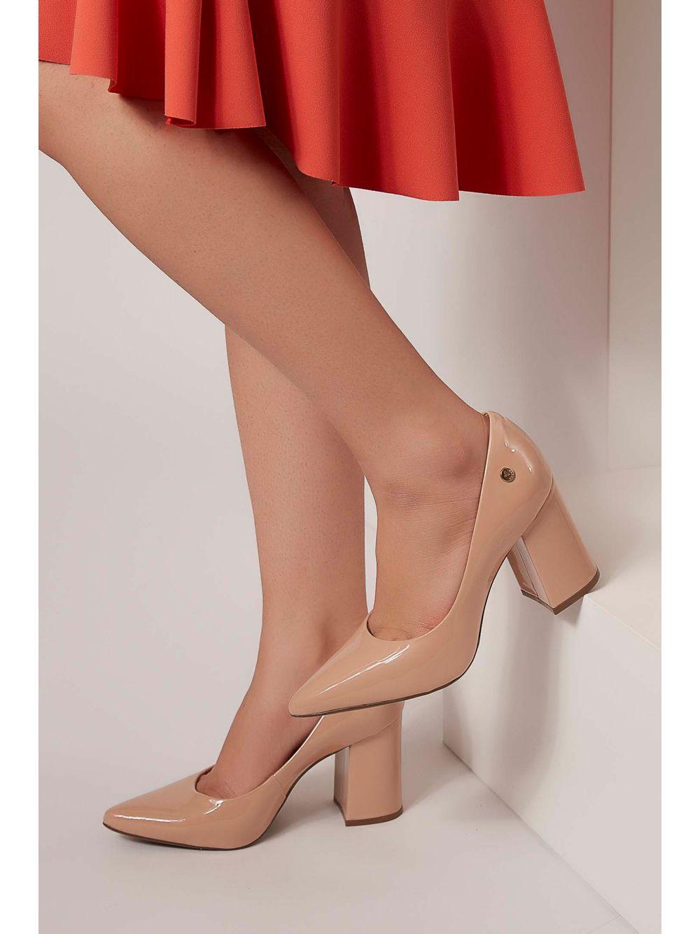 d392a4139 Sapato Scarpin Via Uno Verniz Nude - pittol