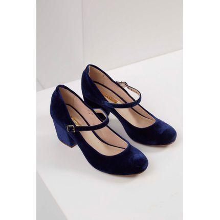Sapato-Boneca-Moleca-Veludo-Marinho-