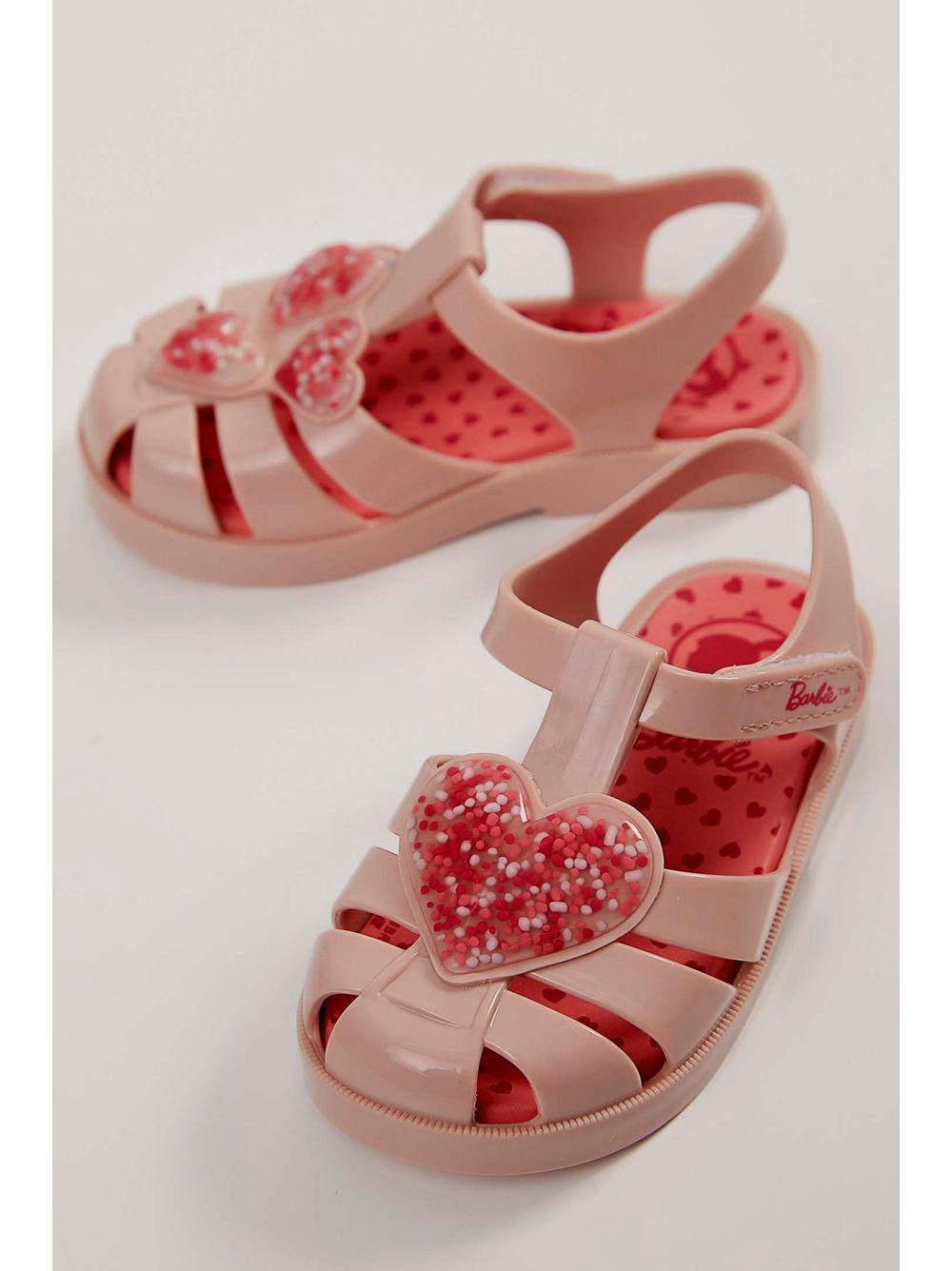 ae8fdf85e Sandália Infantil Grendene Barbie Love Nude - pittol