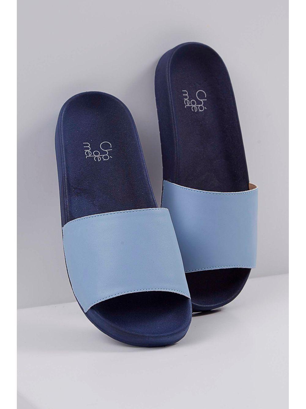 31fabce1c Chinelo Slide Chá De Mel Azul Claro - pittol