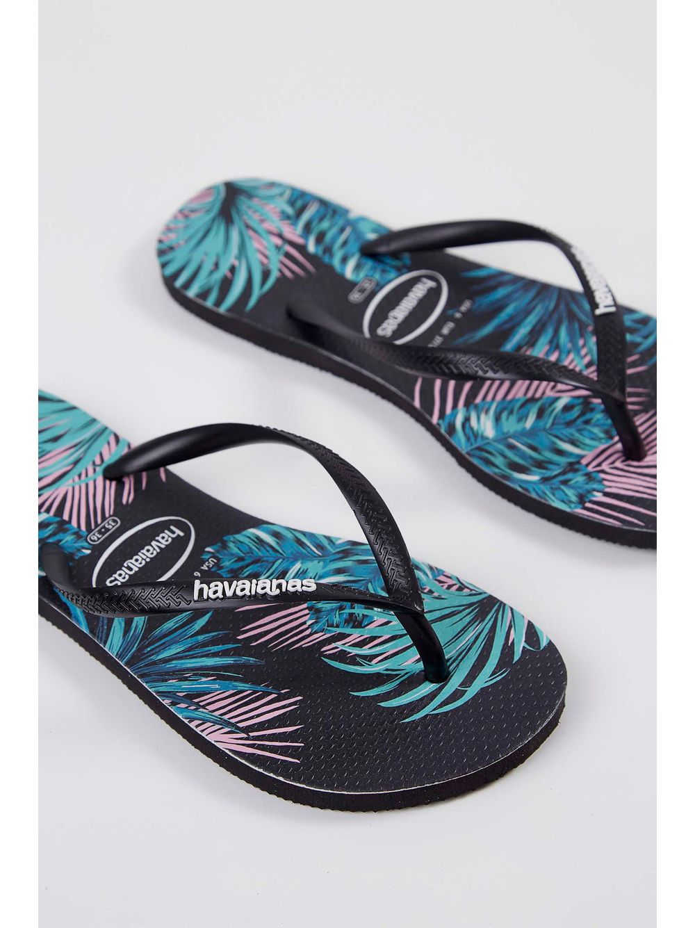 a4feb814d Chinelo Havaianas Slim Tropical Floral Preto - pittol