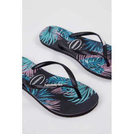 Chinelo-Havaianas-Slim-Tropical-Floral-Preto-