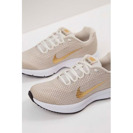 665036492 Tenis-Nike-Runallday-Textorizado-Feminino-Bege-