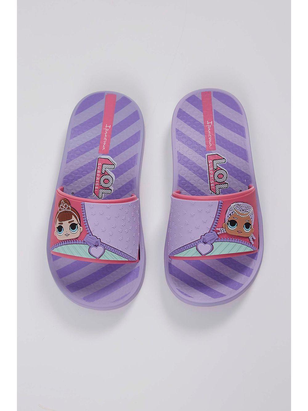 165c48b93c Chinelo Infantil Slide Grendene Lol Violeta - pittol