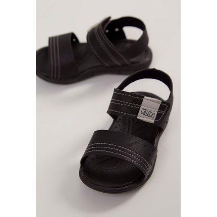 Sandalia-Infantil-Papete-Klin-Velcro-Preto