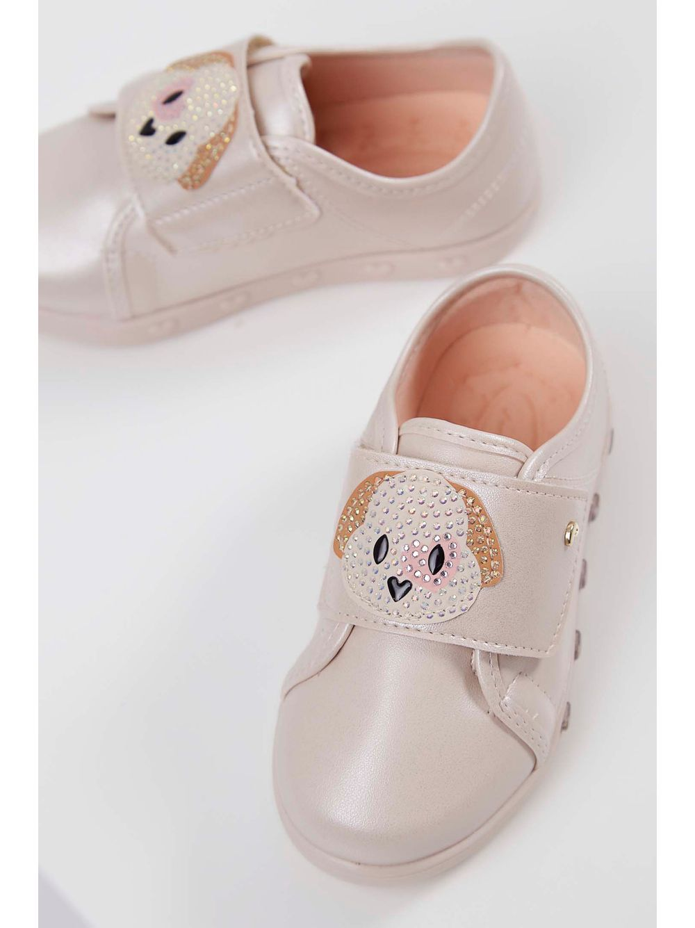 7896f0da41 Tênis Infantil Sneaker Pampili Luz Zoo Cachorrinha Nude - pittol
