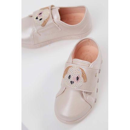Tenis-Infantil-Sneaker-Pampili-Luz-Zoo-Cachorrinha-Nude-