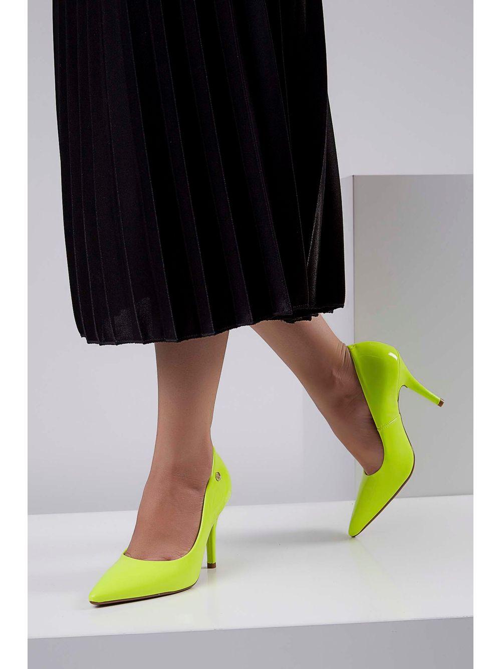 c3e591075 Previous. Sapato-Salto-Medio-Vizzano-Neon-Amarelo ...