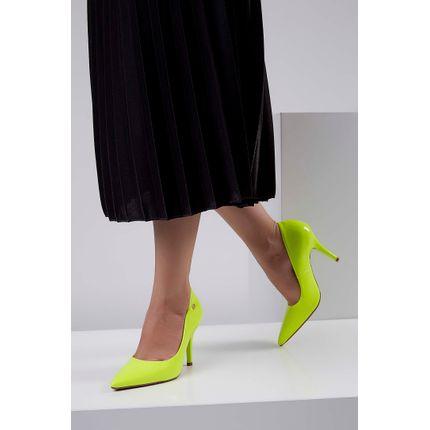Sapato-Salto-Medio-Vizzano-Neon-Amarelo-