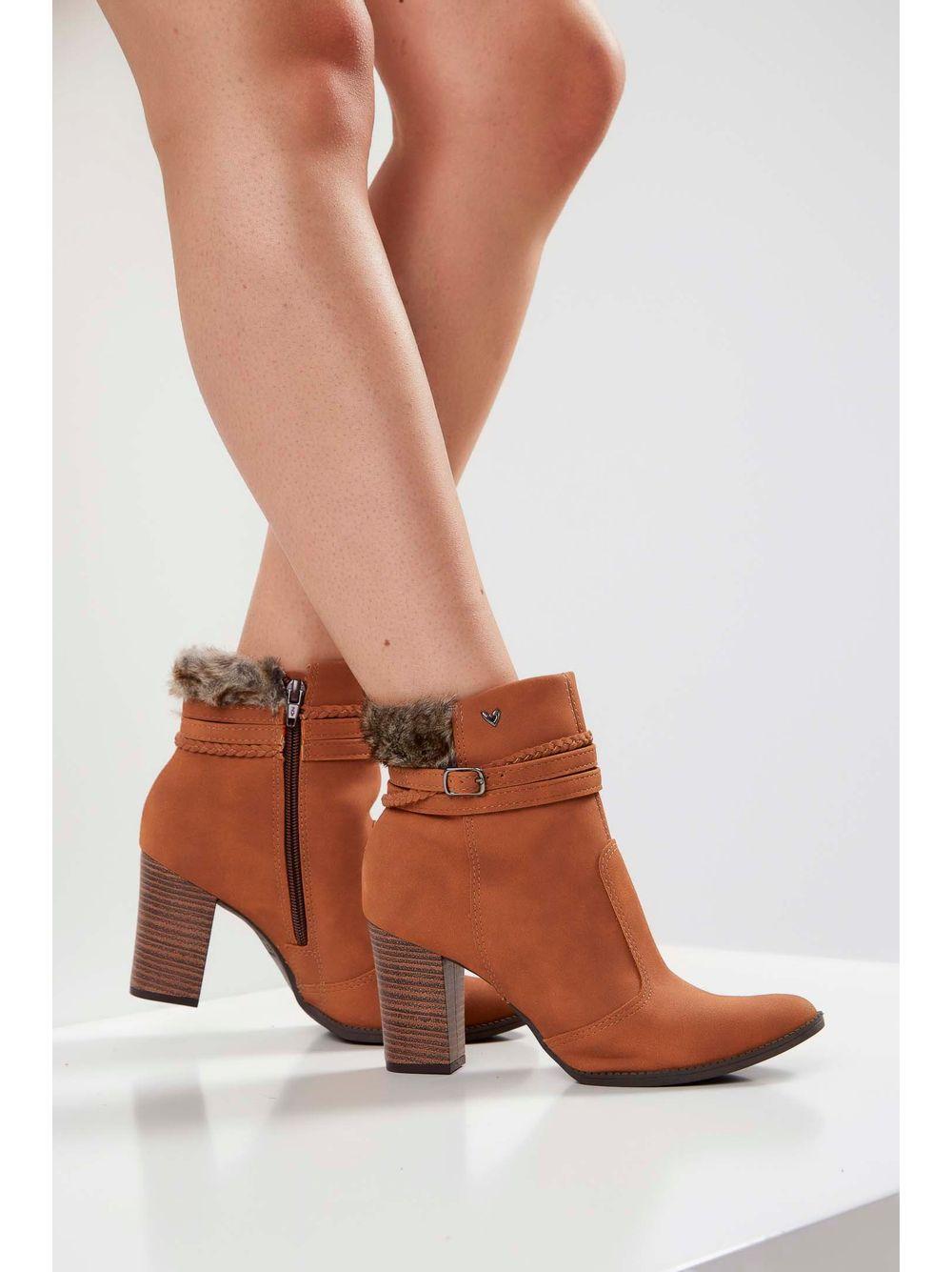 2f6222e281 Bota Ankle Boots Mississipi Pelo Caramelo - pittol