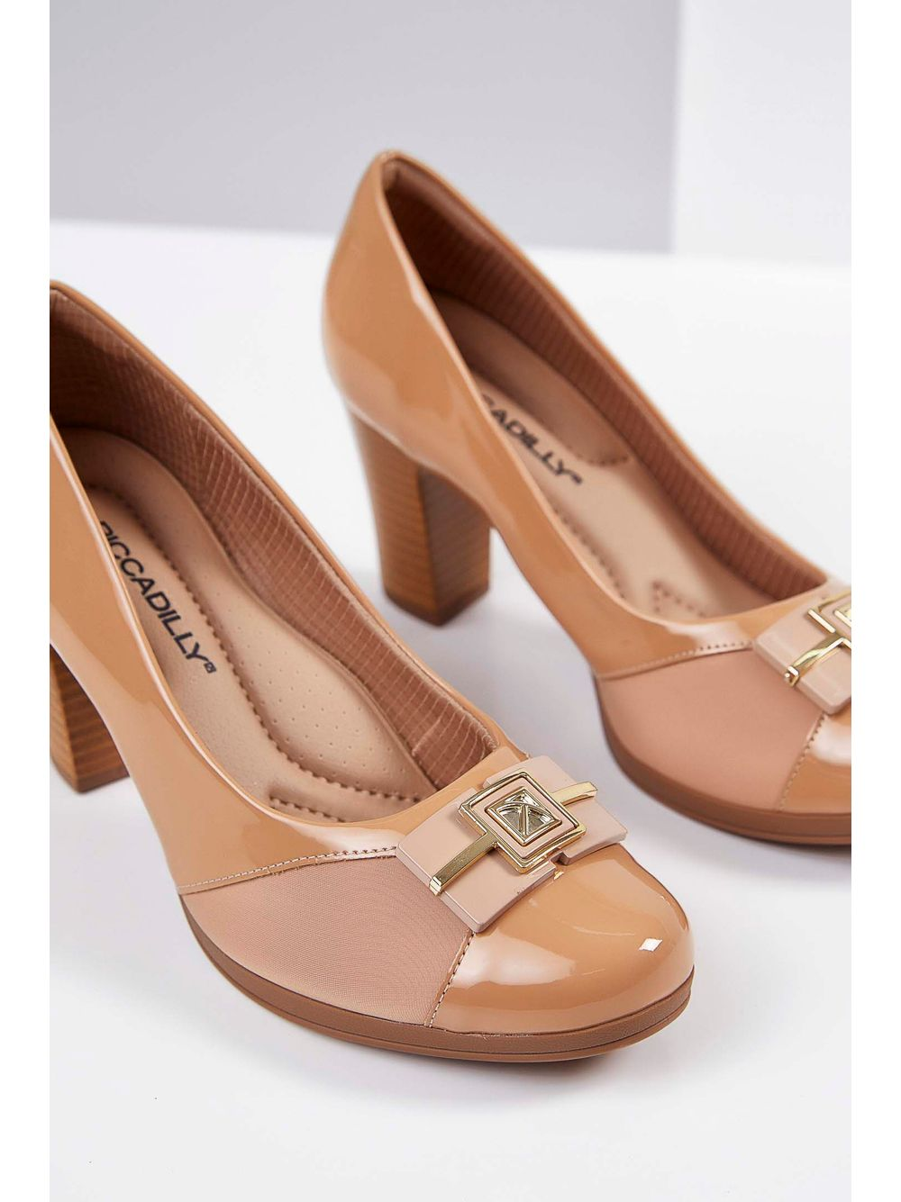 156d855be3 Sapato Casual Piccadilly Fivela Nude - pittol
