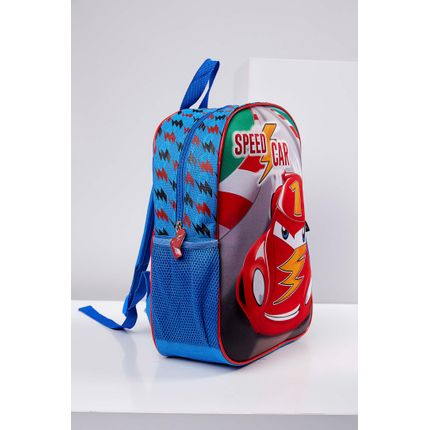 Mochila-Casual-Santino-Scm181223-Speed-Car-Azul-