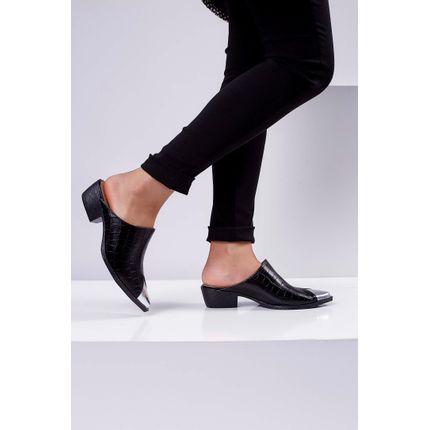 Sapato-Mule-Cecconello-Croco-Preto