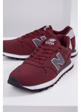 tenis new balance bordo