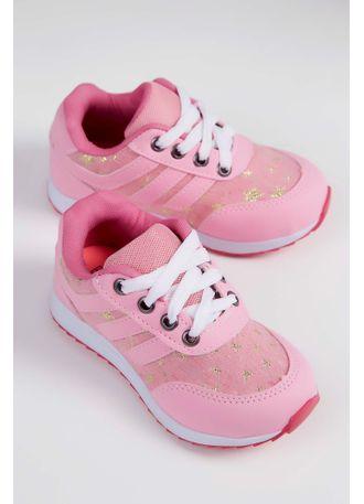 5854f8f7882 Tênis Casual Infantil Espelho Meu Cadarço Pink - pittol