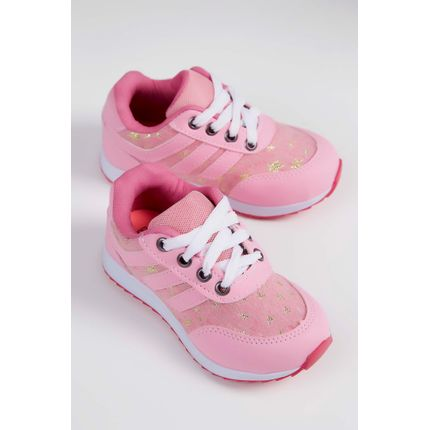 12a24b510 Tenis-Casual-Infantil-Pink