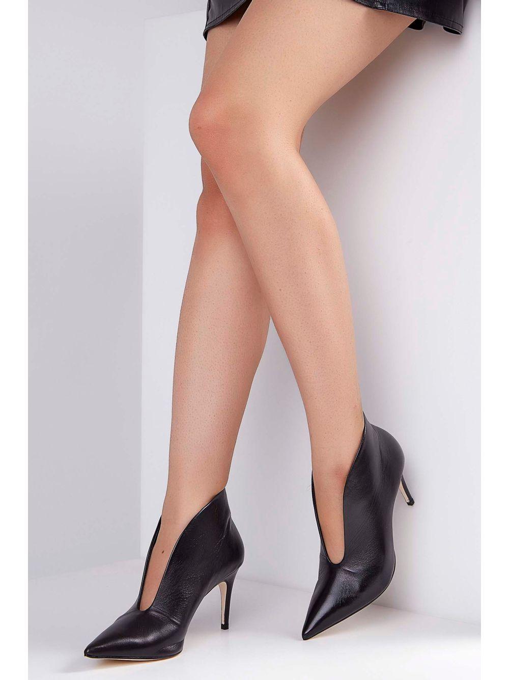 48ca92210 Sapato Scarpin Luz Da Lua Couro Preto - pittol