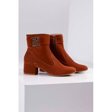 Bota-Ankle-Boot-Renata-Della-Vecchia-Salto-Baixo-Caramelo-