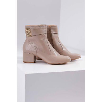 Bota-Ankle-Boot-Renata-Della-Vecchia-Salto-Baixo-Bege-