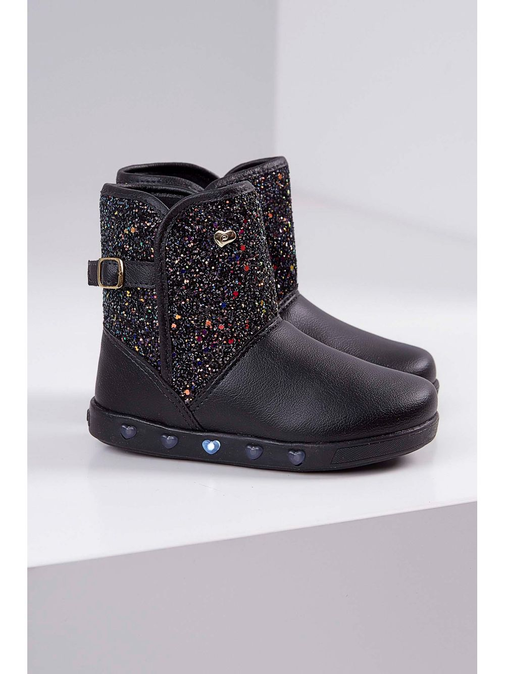 b43f73f208 Previous. Bota-Casual-Infantil-Pampili-Glitter-Led-Preto ...