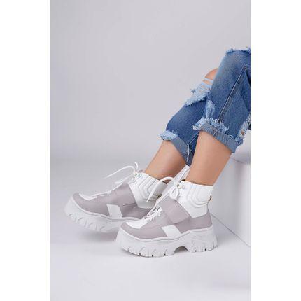 Tenis-Botinha-Chunky-Sneakers-Cha-De-Mel-Cadarco-Cinza-