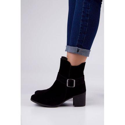 Bota-Ankle-Boots-Cromic-Salto-Grosso-Fivela-Preto-