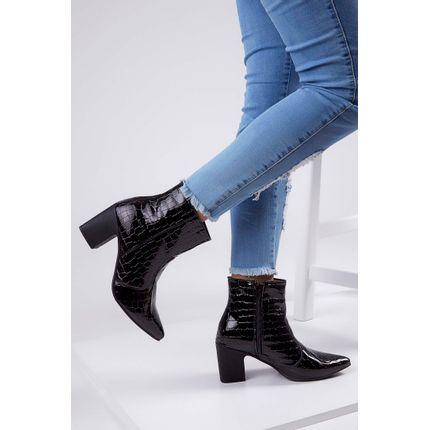 Bota-Ankle-Boots-Cromic-Salto-Grosso-Verniz-Croco-Preto-
