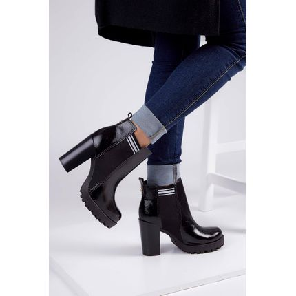 Bota-Ankle-Boot-Moleca-Tratorado-Verniz-Preto-