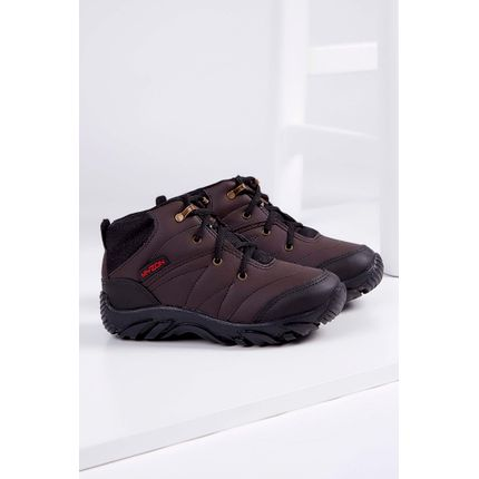 Bota-Adventure-Infantil-Myzon-915-Sintetico-Marrom-