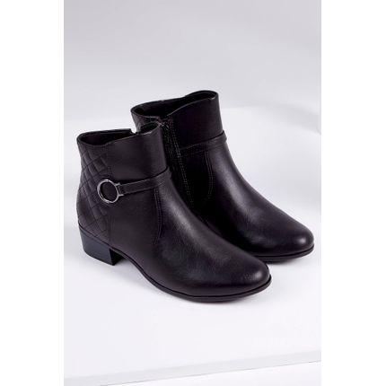 Bota-Ankle-Boot-Comfortflex-Sintetico-Salto-Baixo-Preto-