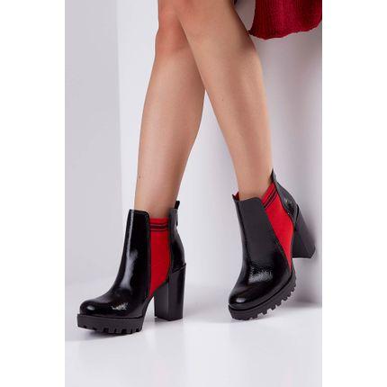 Bota-Ankle-Boot-Moleca-Tratorado-Verniz-Vermelho-