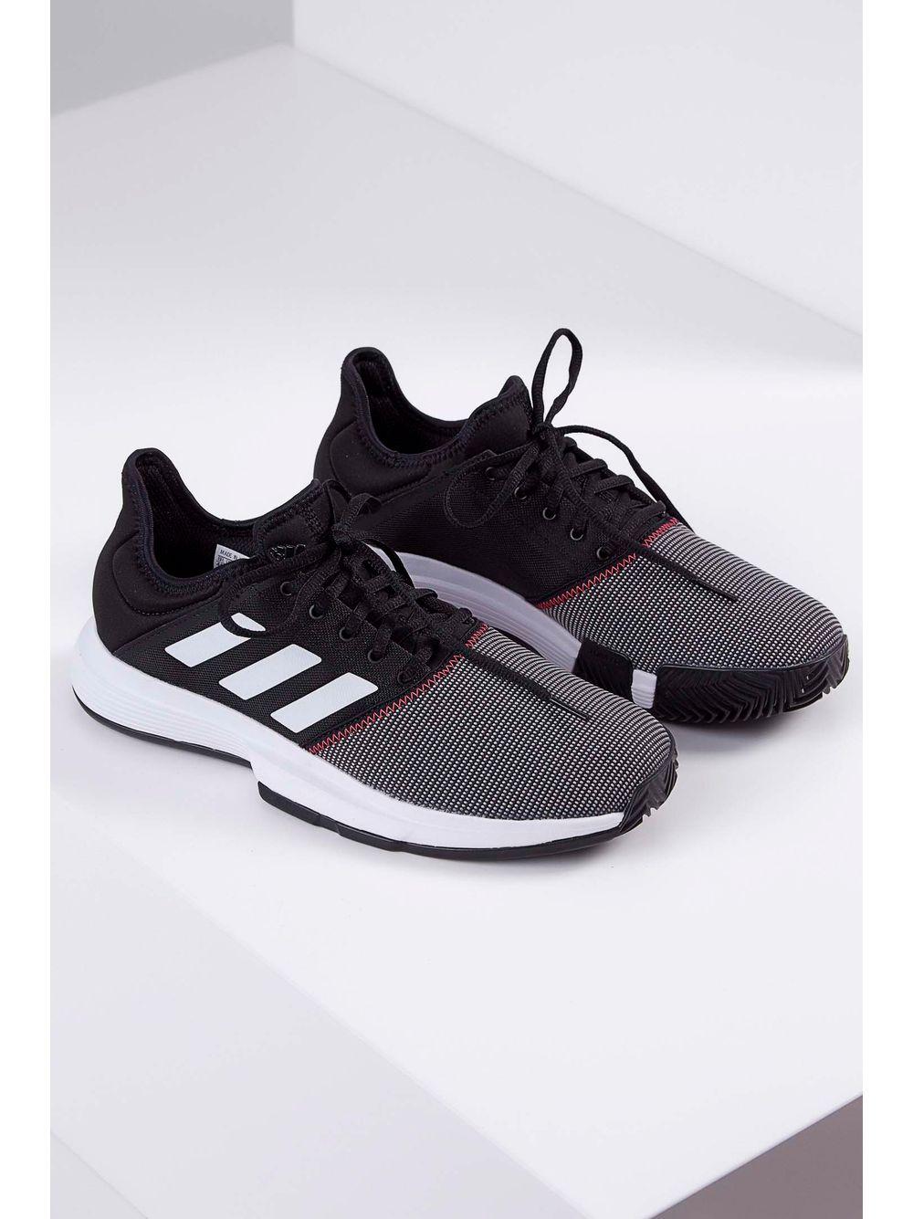 0998a79159b Tênis Adidas Gamecourt Shoes Preto - pittol