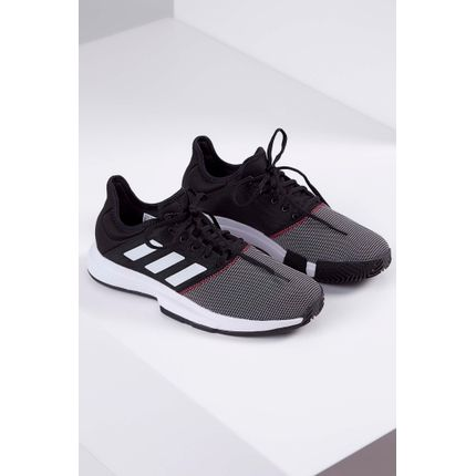 Tenis-Adidas-Gamecourt-Shoes-Preto-